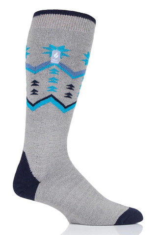 Men's Long Fairisle Ultra Lite Snow Sport Socks