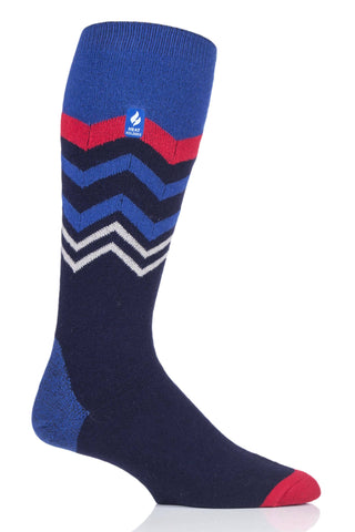 Men's Long Ultra Lite Zig Zag Snow Sports Socks