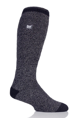 Men's Twist Long Socks - Black