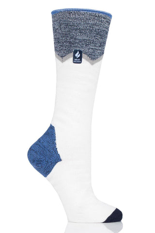 Women's Long Zig Zag Ultra Lite Snow Sports Socks