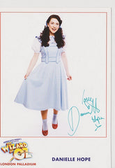 Daniele Hope - The Wizard of Oz - PR Postcard (Signed)
