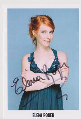 Elena Roger - Small Postcard (Signed)