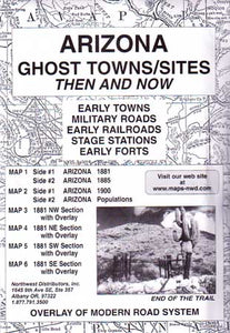 Arizona Ghost Towns Then & Now (Maps)