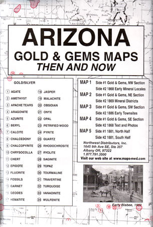 Arizona Gold & Gems, Then & Now (Maps)