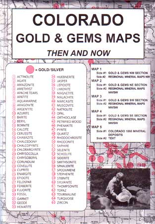 Colorado Gold and Gems, Then & Now (Maps)