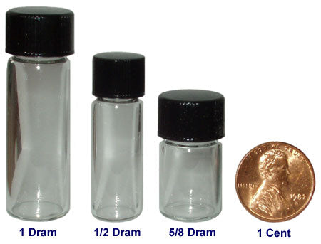 Small glass vials