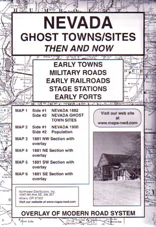 Nevada Ghost Towns/Sites Then & Now (Maps)