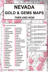 Nevada Gold & Gems Then and Now (Maps)