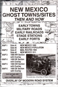 New Mexico Ghost Towns/Sites Then & Now (Maps)
