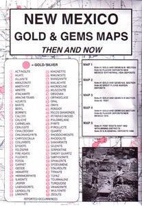 New Mexico Gold & Gems Then and Now (Maps)