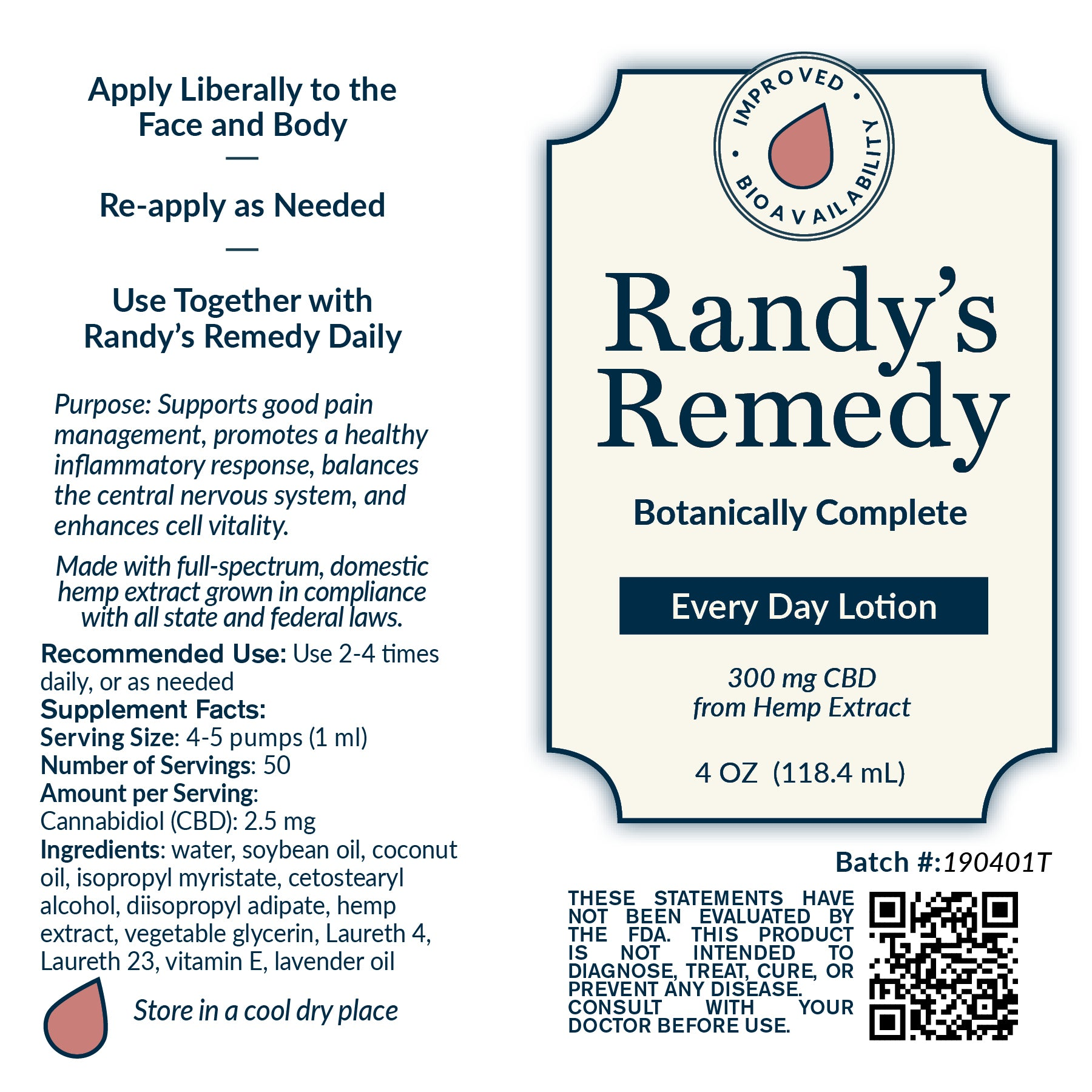 Randy's Remedy Everyday Lotion