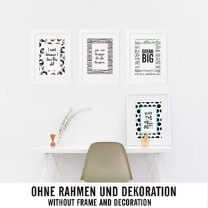 4er Poster Set Motivation Nr.2