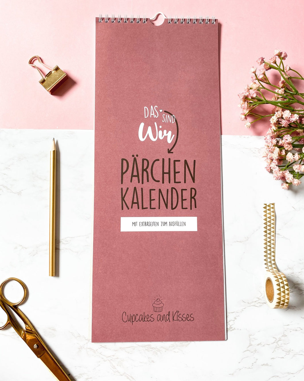 Pärchenkalender - Cupcakes & Kisses