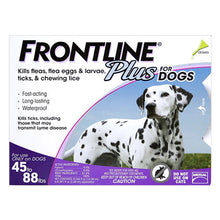 Load image into Gallery viewer, Frontline-Plus-for-Large-Dogs-45-88-lbs-Purple-Easyvetsupplies