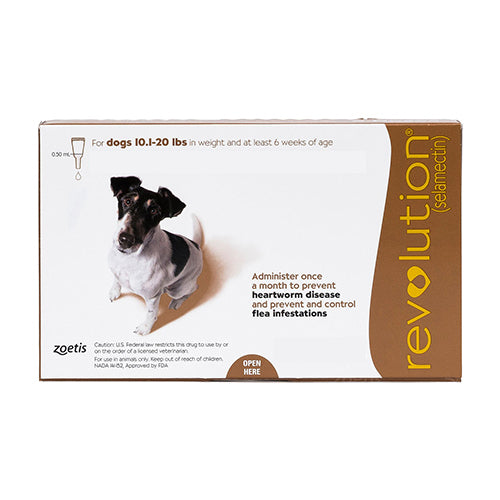 Revolution for Small Dogs 10.1-20 lbs (Brown)