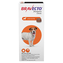 Load image into Gallery viewer, bravecto_for_small_Dogs_9.9-22lbs_Orange_easyvetsupplies