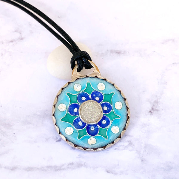 The holidays are coming ~ moons and stars ~ mandalas ~ sterling waves with gemstones~