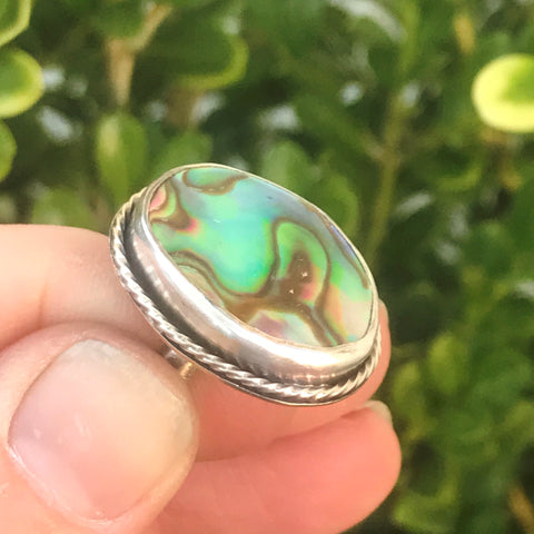 abalone sterling ring seaside harmony