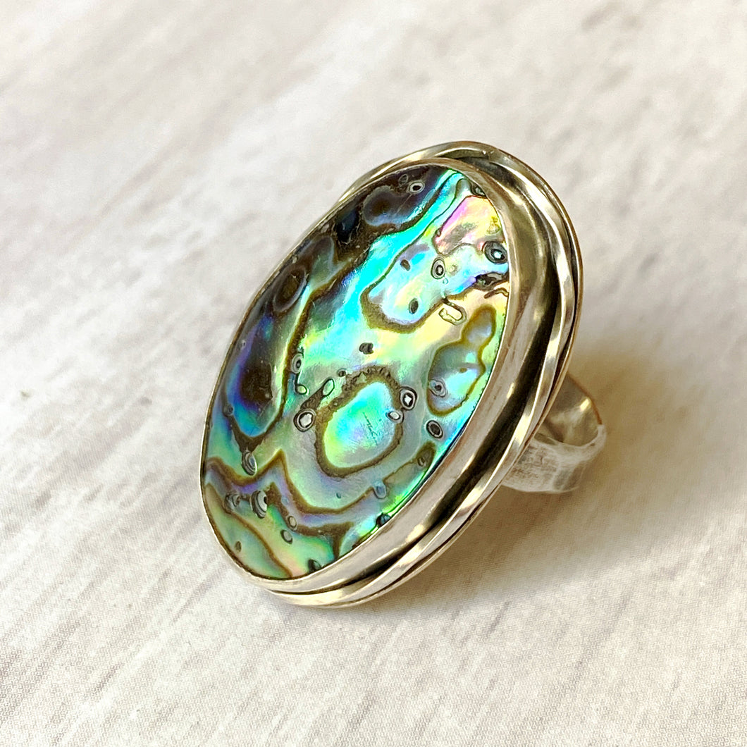 Abalone shell stering ring