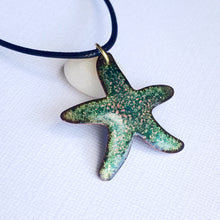 Load image into Gallery viewer, aqua pink seastar necklace