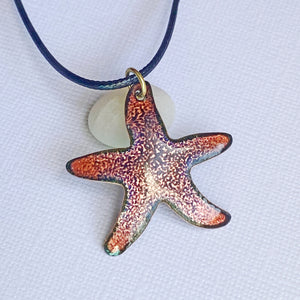 seastar starfish enamel necklace seaside harmony jewelry