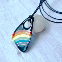 Load image into Gallery viewer, rainbow pride enamel pendant