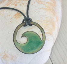 Load image into Gallery viewer, seagreen transparent wave necklace seaside harmony jewelry