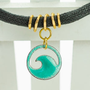 Seagreen Enamel Mini Wave Choker Necklace - Seaside Harmony Jewelry
