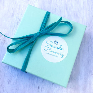 seaside harmony jewelry gift box with bow