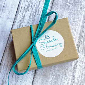 gift wrapped box from Seaside Harmony Jewelry