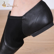 Zapatillas de Danza en Leather / Piel - Color Negro y Beige