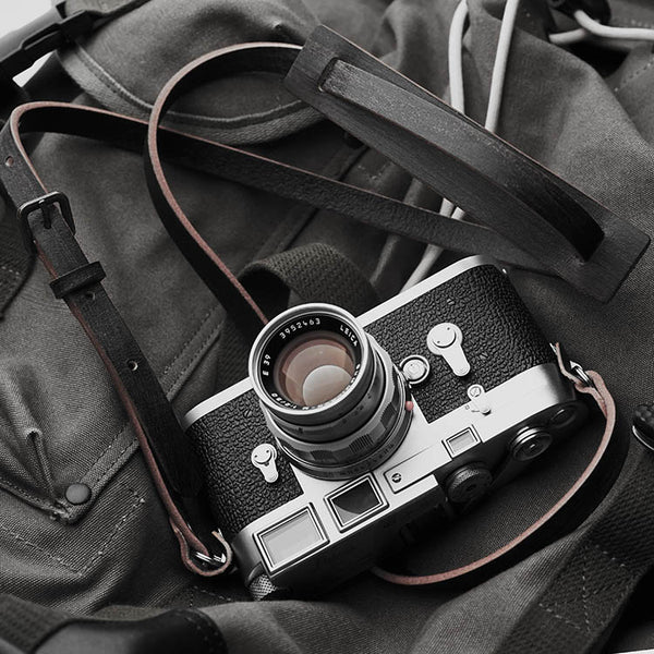 Vintery leather strap for camera