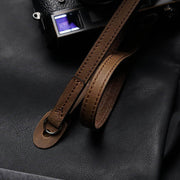 horse leather camera shoulder strap