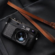 leather red-brown camera shoulder strap