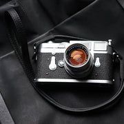 Burtle leather camera strap black