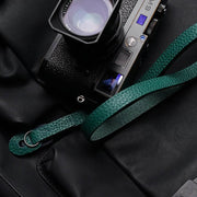 Burtle leather camera strap Green