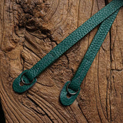 Burtle Green leather camera shoulder strap