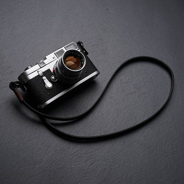"Leather camera strap ""Comder"""