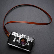 Comder leather camera strap <br>Light coffee