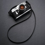 Comder Black Leather camera strap