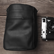 big leather camera case bag