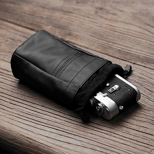 Towell leather camera case bag Black