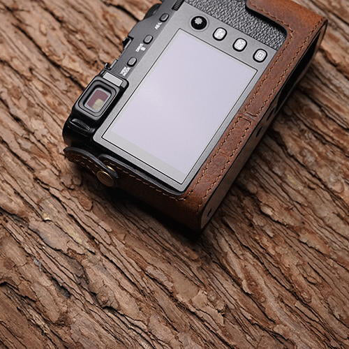 Leather camera half case
