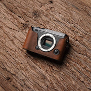 Leather camera half case for Fuj