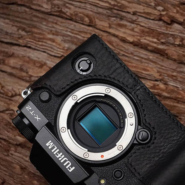 camera leather half case for Fuji XT-2