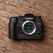Leather camera half case for Fuji XT-2 Black
