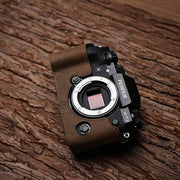 Horse color half case for Fuji XT-2