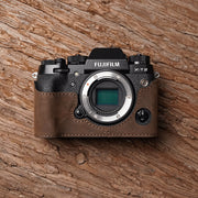 Leather camera half case <br>for Fuji X-T2 Horse color