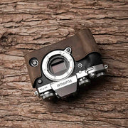 Leather camera half case <br>for Fuji X-T3 Horse color