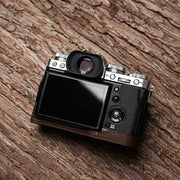Leather half case for Fuji X-T3